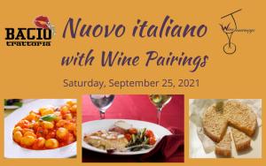 wine pairing Nuovo italiano dinner