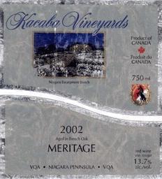 Kacaba Meritage 2002