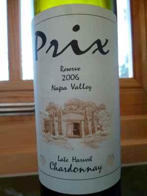 2006 Hagafen Late Harvest Chardonnay, Prix, Reserve-small