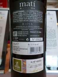 2010 Elvi Wines Mati - back label_