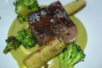 Waygu Short Rib, Broccoli Stem, Broccoli, Puree, Charred Broccoli Florets AKA Broccoli 3X (ways)