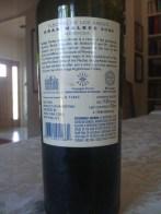 2009 Flechas de Los Andes Malbec - back label