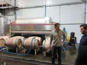 Eran Pick and Christophe Bardeau at Tzora Winery