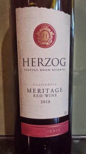 2010 Herzog Meritage, Tasting Room Reserve