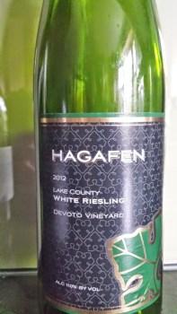 2012 Hagafen White Riesling, Devoto Vineyard