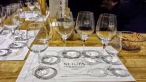 Netofa Winery Tasting Room glasses