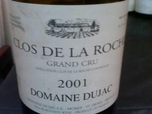 Domaine Dujac, Morey-Saint-Denis, Clos de la Roche Grand Cru 2001