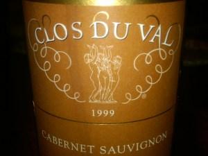 Clos du Val Cabernet Sauvignon Napa Valley 1999