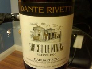 Dante Rivetti, Barbaresco Riserva Bricco de Neueis 1996