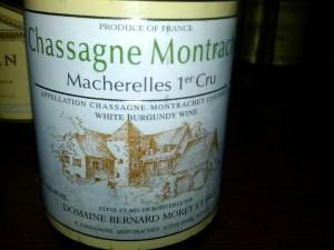 Domaine Bernard Morey, Chassagne-Montrachet Les Macherelles 1er Cru 2007