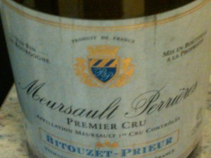 Domaine Bitouzet-Prieur, Meursault Perrières 1er Cru #1