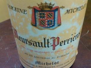 Domaine Michelot, Meursault, Les Perrières 1er Cru 2002