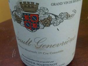 Domaine Yves Boyer-Martenot, Meursault Les Genevrières 1er Cru 2002 #1