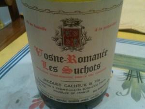 Jacques Cacheaux Vosne Romanee Suchots 1995 #2