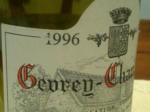 Claude Dugat Gevrey-Chambertin 1996 #3