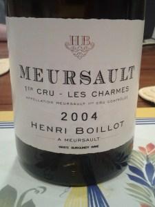 Boillot Meursault Charmes 2004 #1