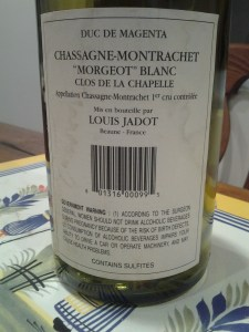 Magenta Jadot Morgeot Chapelle 1999 #1
