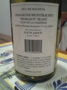 Magenta Jadot Morgeot Chapelle 1999 #1