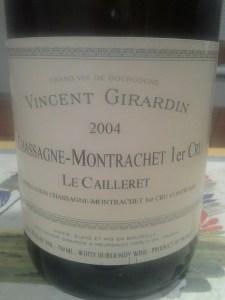 Girardin Chassagne Caillerets 2004