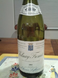 Olivier Leflaive Volnay Fremiets 1993 #1