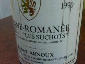 Robert Arnoux, Vosne-Romanee Les Suchots 1er Cru 1990