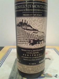 Pertimali (Livio Sassetti) Brunello di Montalcino 1988