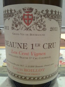 Louis Boillot Beaune Cent Vignes 2011