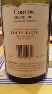 Louis Jadot Corton 1999 #1
