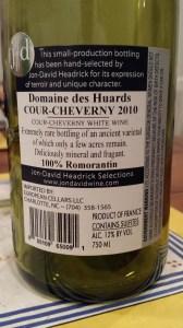 Domaine des Huards Cour-Cheverny 2010 #1
