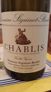 Seguinot-Bordet Chablis Vielles Vignes 2010