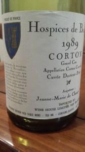 Hospices Corton 1989