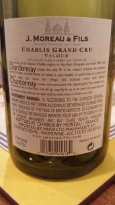 Moreau Chablis Valmur 2008 #2