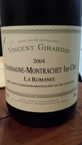 Girardin Chassagne Romanee 2004
