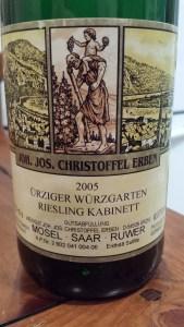 J.J. Christoffel Urziger Wurzgarten Kabinett 2005 #2