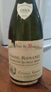 Giroud Vosne Beauxmonts 1988