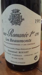Rouget Vosne Beaux Monts 1995