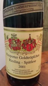 Reuscher Haart Spatlese 2001