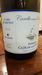 Champy Volnay Carelle 2010