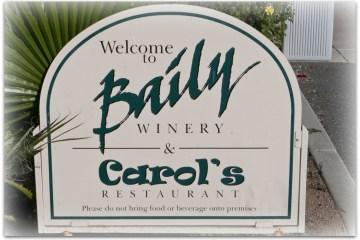 Carol's Restaurant at Baily Winery