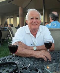 Otto the friend of WINEormous enjoys the Malbec at Masia de Yabar on De Portola Wine Trail