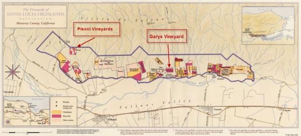 Pisoni Vineyard Map