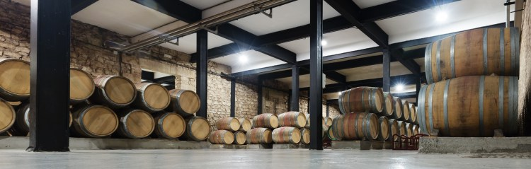 Interior of a winery