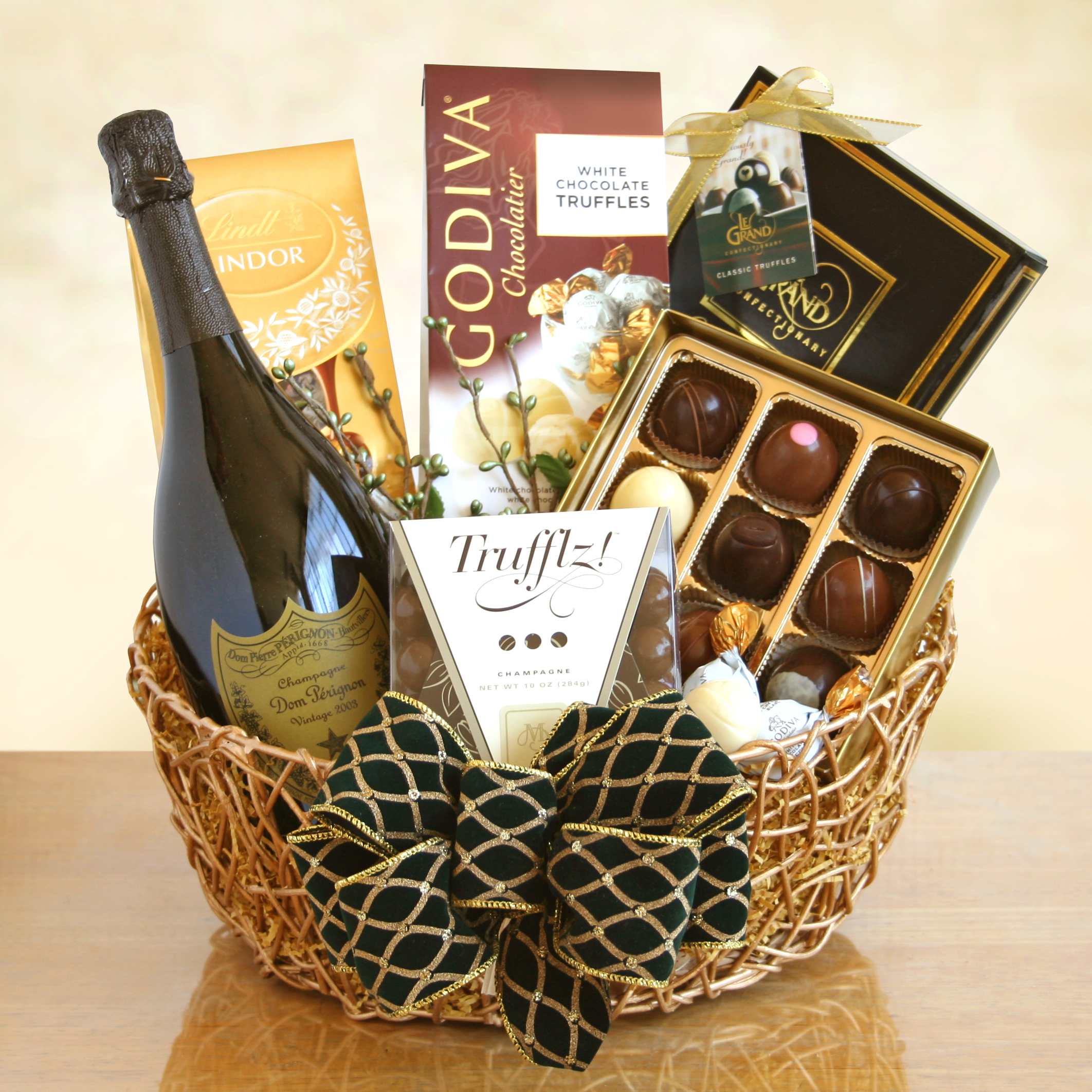 Ultimate Dom Perignon Champagne And Truffles Gift Basket