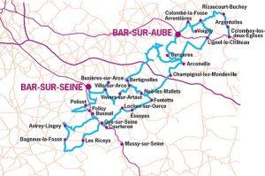 Côte des Bar area map.