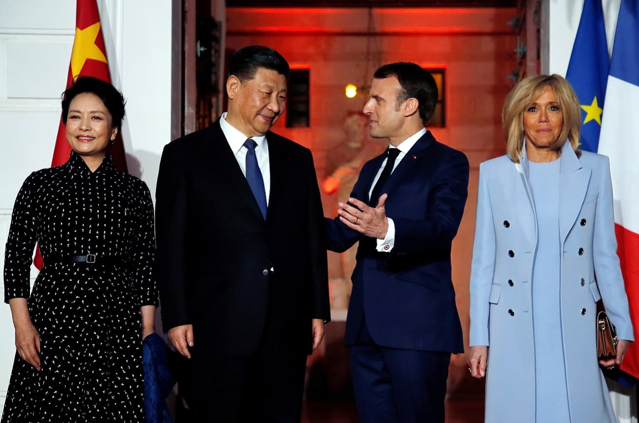 Petrus and Sir Winston Churchill Pol Roger served at Macron and Xi Jinping dinner
