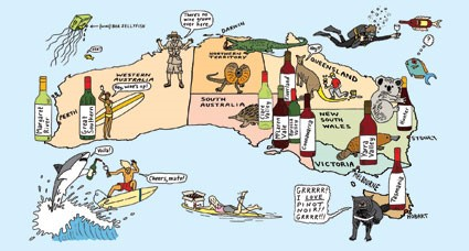 Delicious Wines Fashioned in Australia