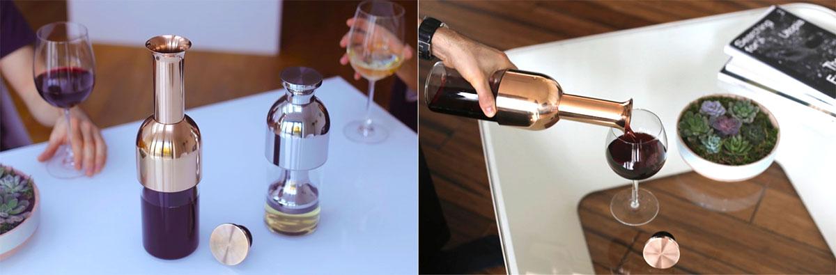 Eto, il decanter che conserva il vino