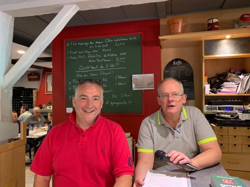 Alain Simon & Pascal Bure, les organisateurs du challenge oenologique de Hesbaye