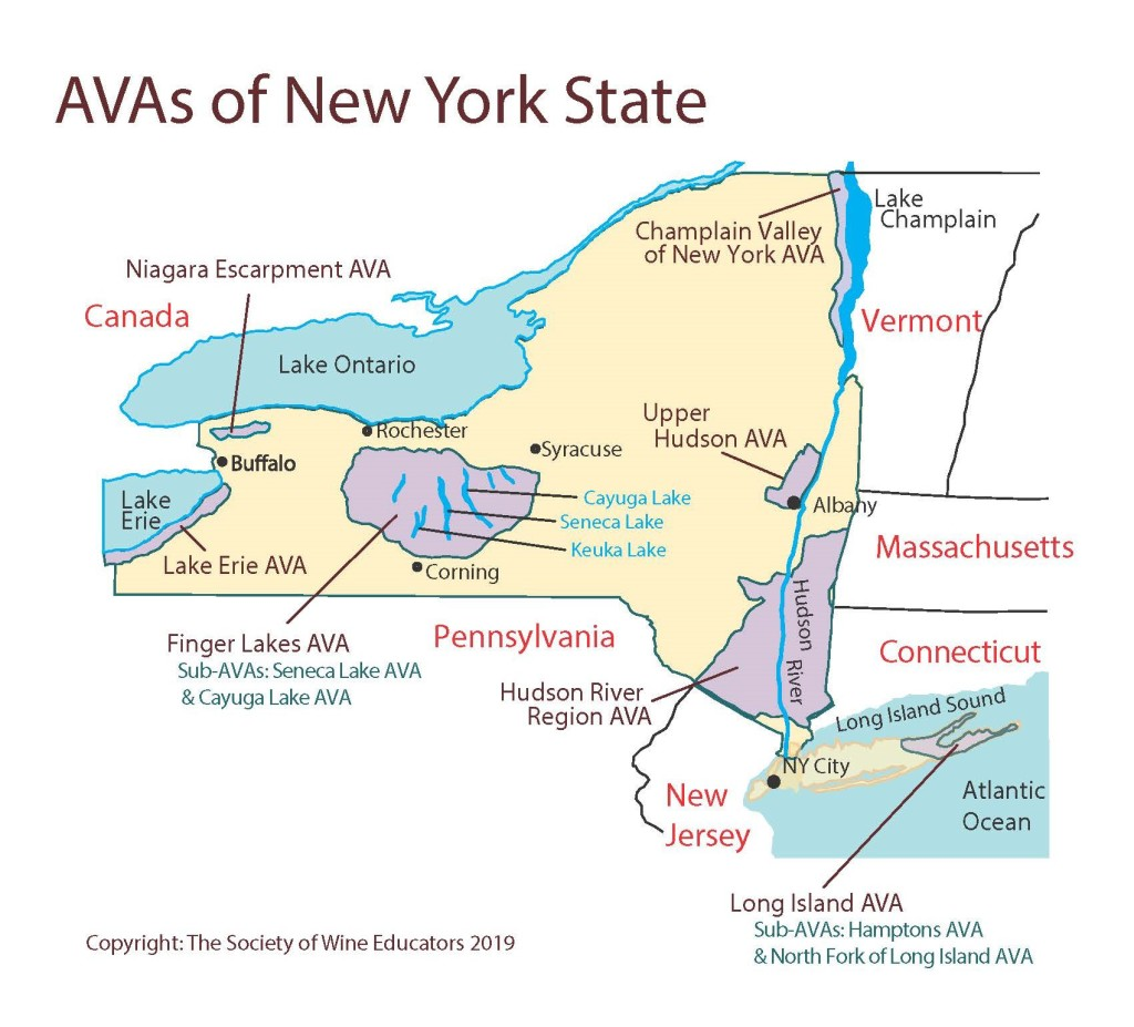 Us New York State Swe Map Wine Wit And Wisdom