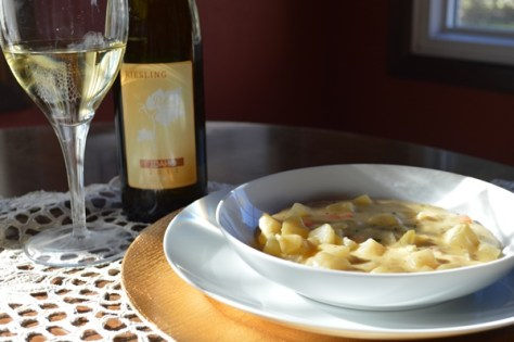 Soup Paired with Potter Wines Riesling